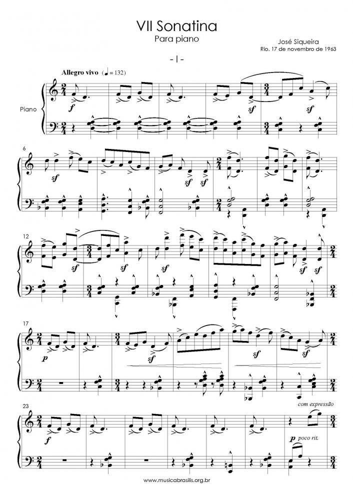 VII Sonatina para piano (1963)