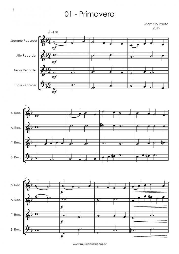 12 obras para quarteto de flautas-doce (2015)
