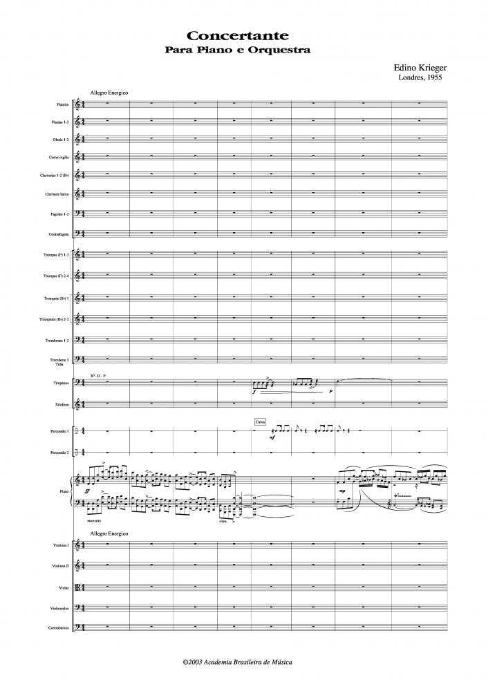 Concertante para piano e orquestra