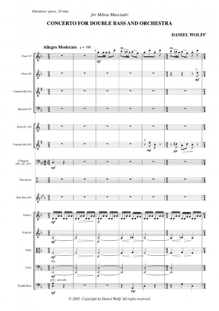 Concerto para contrabaixo e orquestra