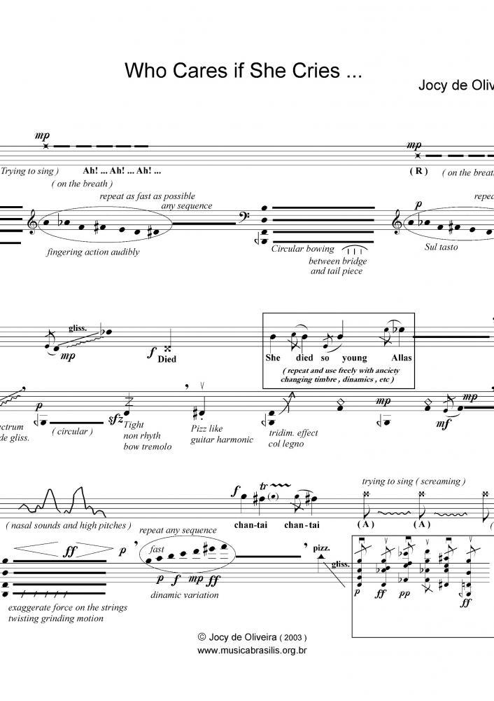 Who cares if she cries... (voz e violoncelo) (2003)