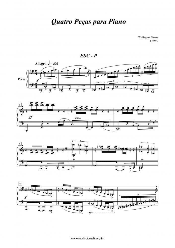 Quatro peças para piano