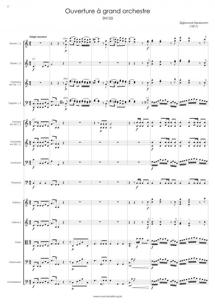 Ouverture à grand orchestre (19/09/1817)