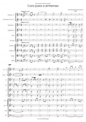 Coro para o entremês (1808)