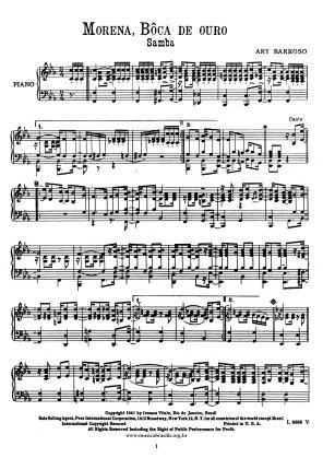Morena, boca de ouro (piano)