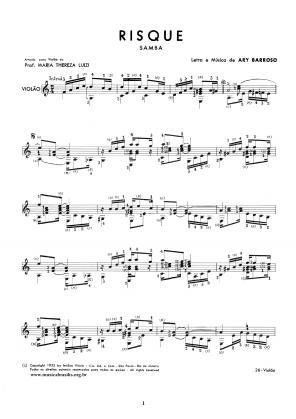 Risque (violão) (1952)