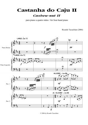 Castanha do cajú n.2 para piano a 4 mãos (2006)