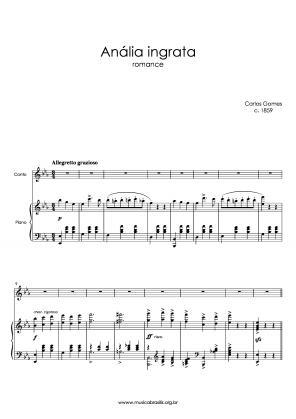 Anália ingrata (voz e piano) (1859)