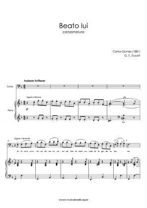 Beato lui (voz e piano) (1881)