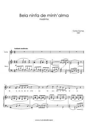 Bela ninfa de minh'alma (voz e piano) (1857)