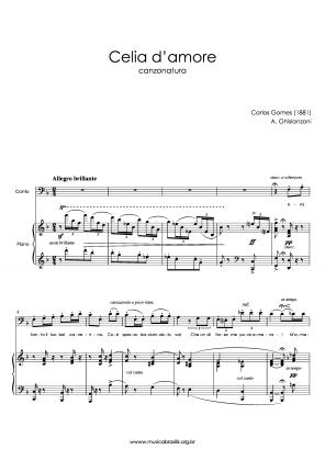 Celia d'amore (voz e piano) (1881)