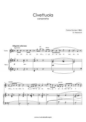Civettuola (voz e piano) (1884)