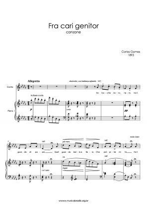 Fra cari genitor (voz e piano) (1893)