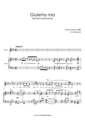 Giulietta mia (voz e piano) (1886)