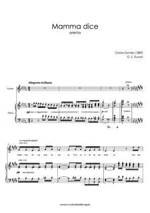 Mamma dice (voz e piano) (1882)