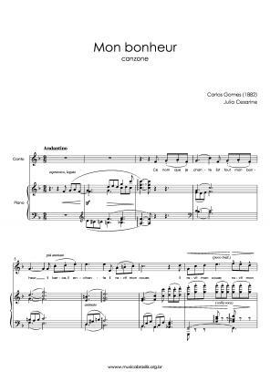 Mon bonheur (voz e piano) (1882)