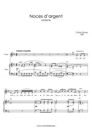 Noces d'argent (voz e piano) (1892)