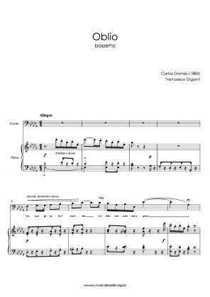 Oblio (voz e piano) (1884)