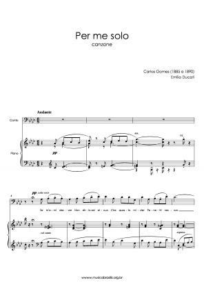 Per me solo (voz e piano) (1885)