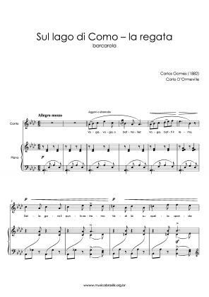 Sul lago di Como – la regata (voz e piano) (1882)