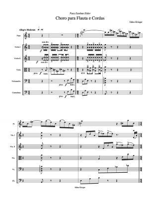 Choro para flauta e cordas (1952)