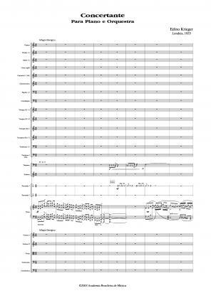 Concertante para piano e orquestra (1955)