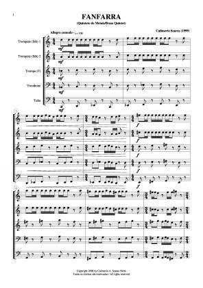 Fanfarra para quinteto de metais (1999)
