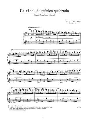 Caixinha de música quebrada (1931)