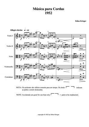 Música para cordas 1952 (1952)