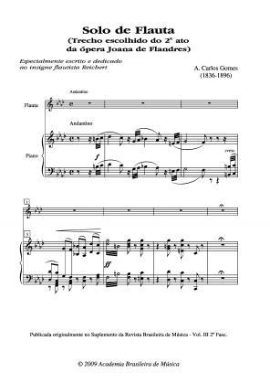 Solo de flauta (1863)
