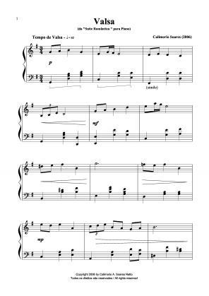 Valsa da 'suíte romântica' para piano (2006)