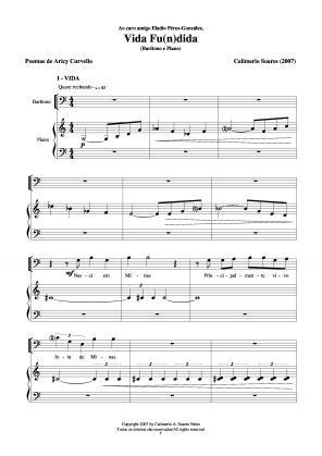 Vida fu(n)dida para barítono e piano (2007)