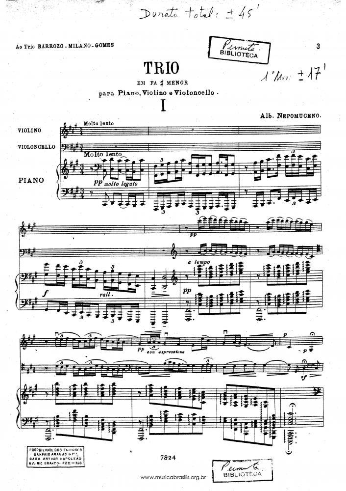 Trio em fá sustenido menor (1916)
