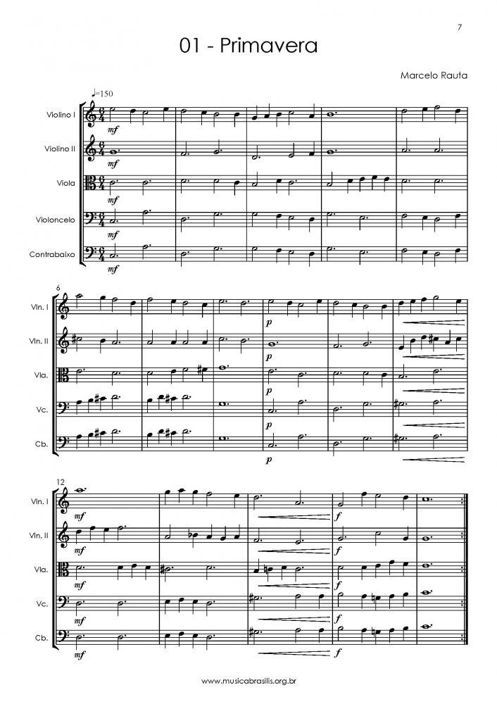 12 obras para quinteto ou orquestra de cordas (2015)