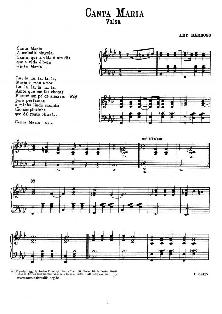 Canta Maria (piano)
