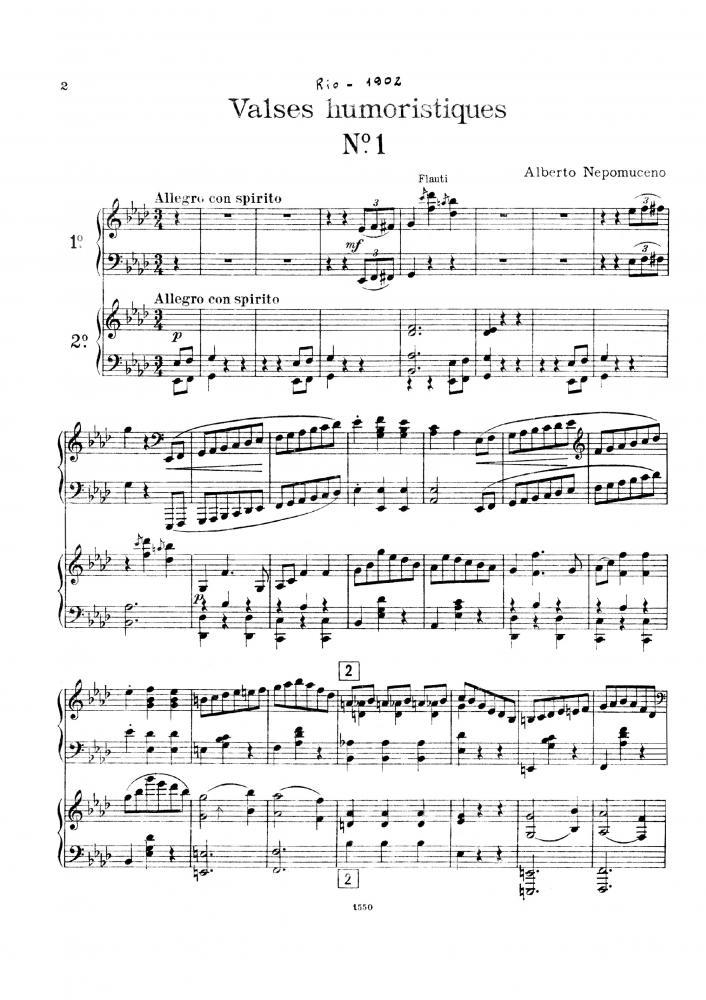 Seis valsas humorísticas (dois pianos) (c. 1902)