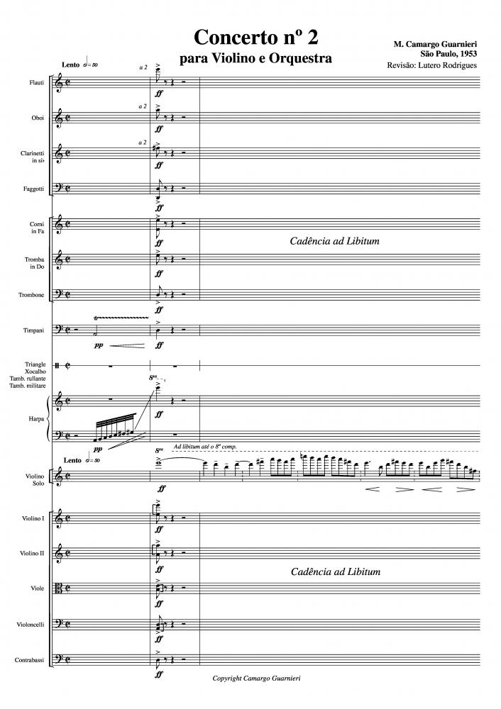 Concerto nº 2 para violino e orquestra (11/1953)