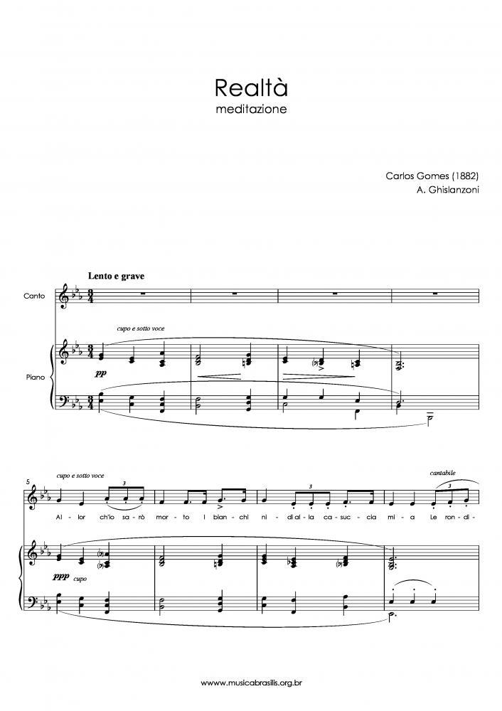 Realtà (voz e piano) (1882)