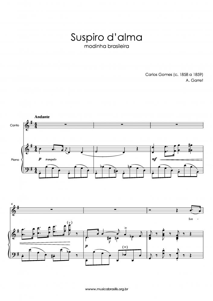 Suspiro d'alma (voz e piano) (1858)