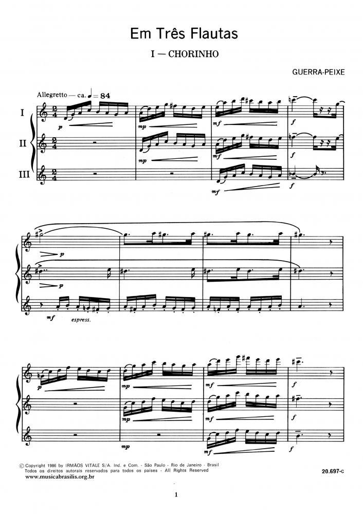 Em três flautas