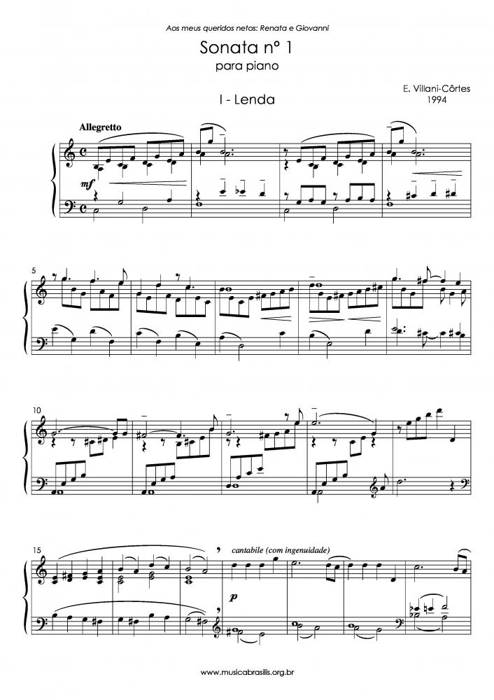 Sonata n.1 para piano (1994)