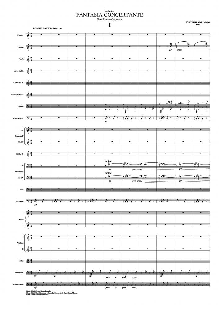 Fantasia concertante para piano e orquestra (1959)