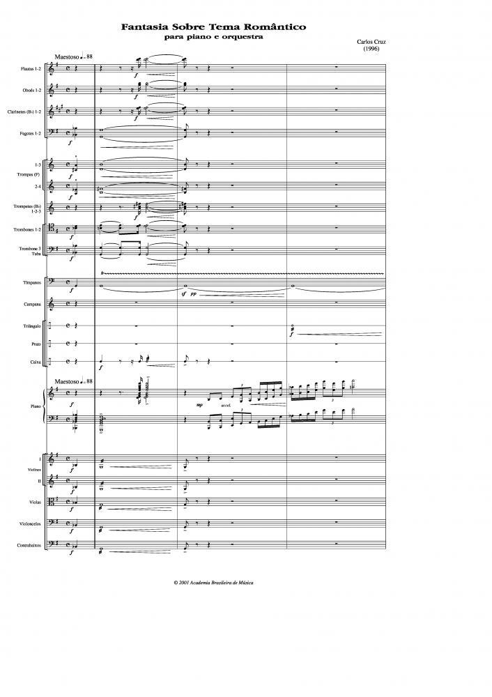 Fantasia sobre tema romântico para piano e orquestra (1996)