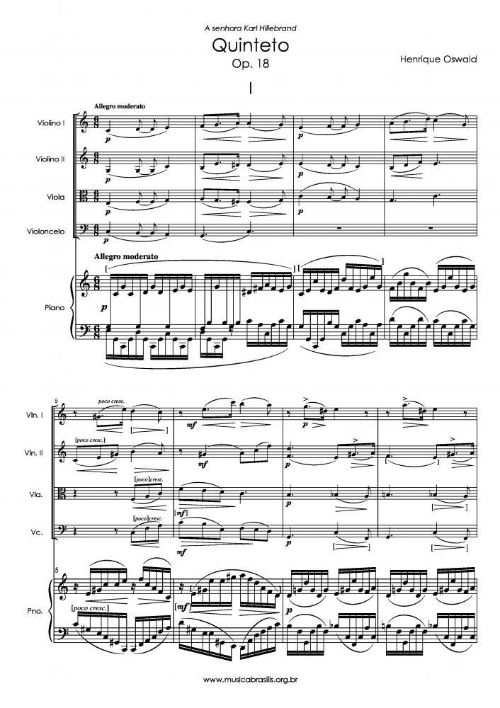 Quinteto Op. 18 (1894)