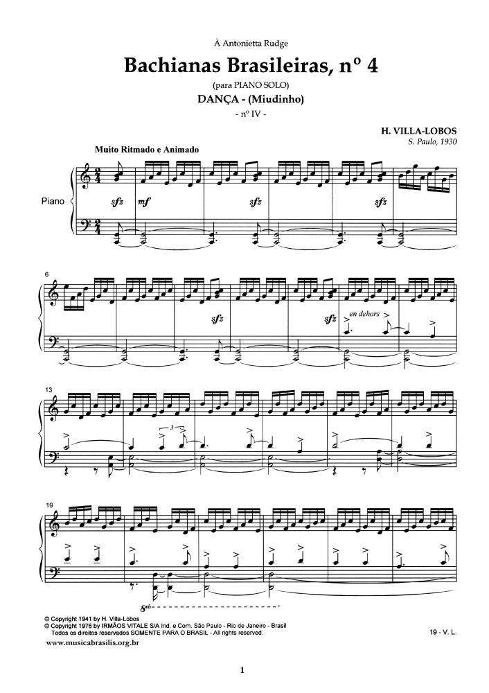 Bachianas n. 4 (1930)