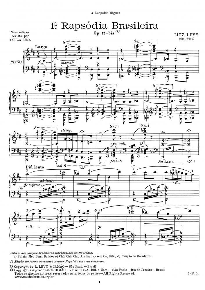 1ª Rapsódia brasileira Op. 17