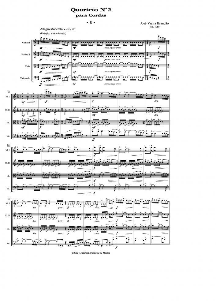 Quarteto n.2 para cordas (1960)
