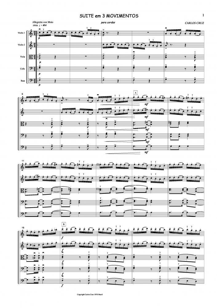 Suíte em 3 movimentos para cordas (1976)