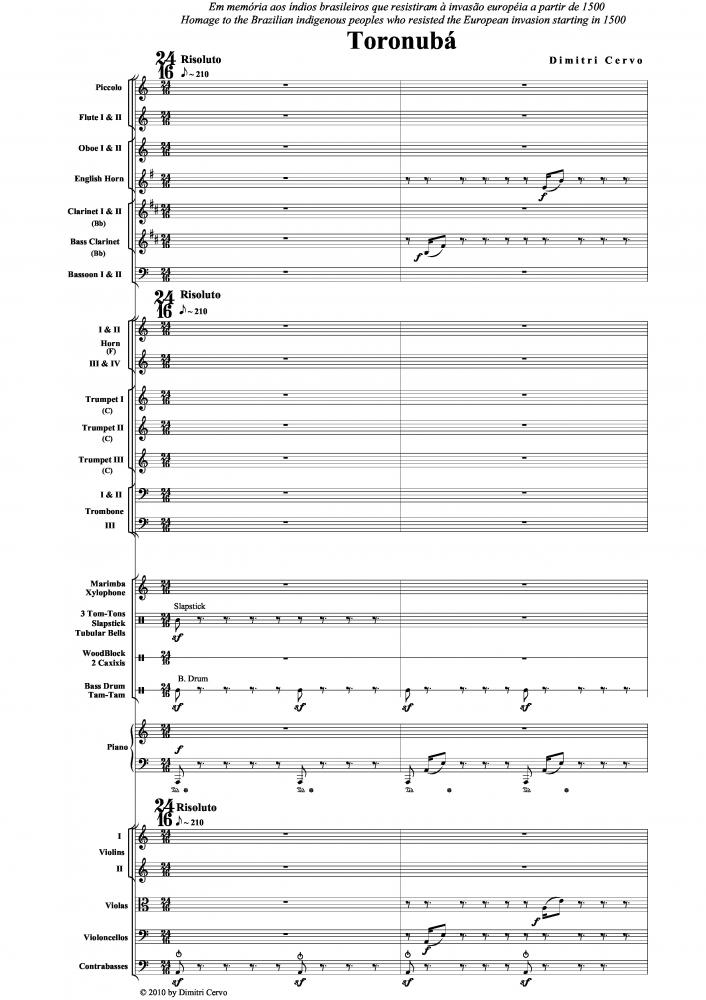 Toronubá para orquestra sinfônica (2010)