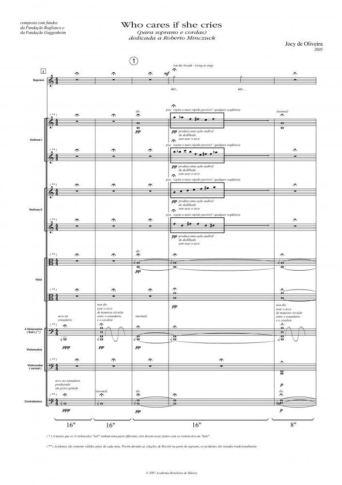 Who cares if she cries... (voz e orquestra) (2005)